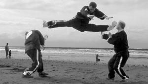 jump double kick